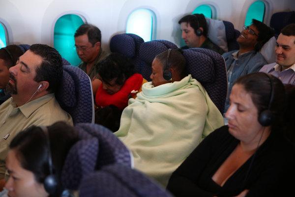 Cramped coach seats
