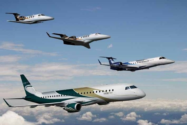 Embraer family of jets