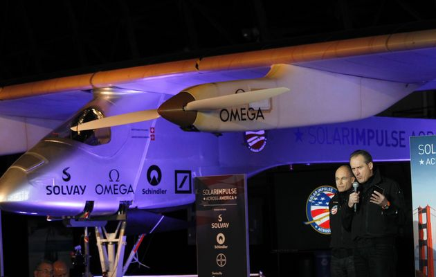 Solar-powered plane set for first cross-country flight from California