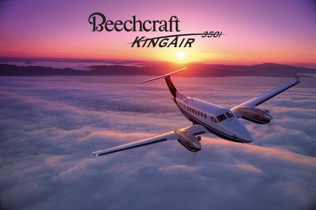 Beechcraft makes the King Air 350i that can be chartered from JetOptions