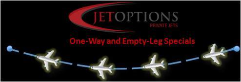 JetOptions one way and empty leg charter rates