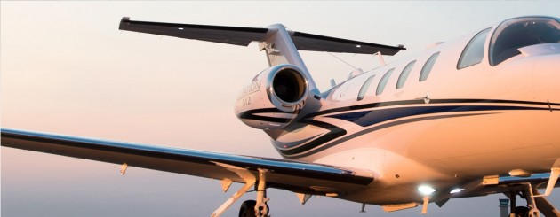 Cessna Aircraft Company is displaying the Cessna Citation M2 business jet in Germany