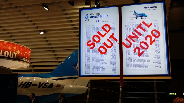 Pilatus PC-24 sold out until 2020