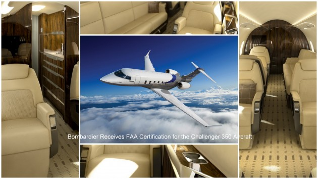 Bombardier Challenger 350 receives FAA certification