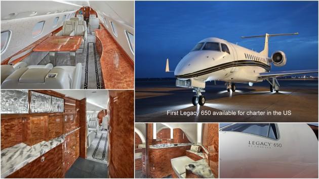Legacy 650 for charter