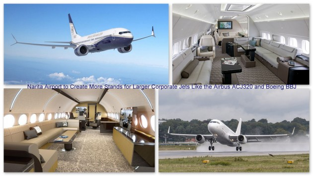 Narita International Airport creates more stands for larger corporate jets