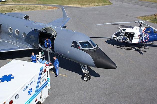 Gulfstream GIII flies Ebola patients