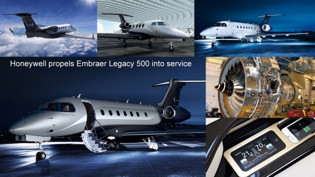 A number of Honeywell Aerospace products contributed to the recent certification of Legacy 500