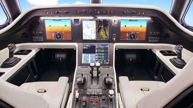 Embraer Legacy 500 Midsize Private Aircraft Cockpit with Pro Line Fusion Now Certified