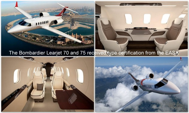 Bombardier Learjet 70 and 75 receive EASA certification
