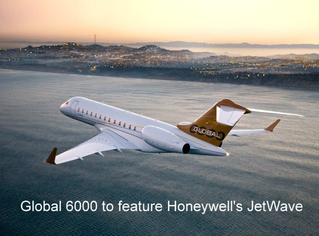 Bombardier Business Aircraft will be the launch business aircraft manufacturer for Honeywell Aerospace's JetWave