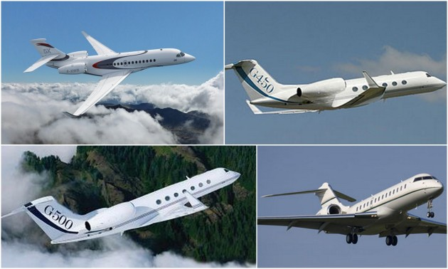 Gulfstream G500 vs Dassault Falcon 5X vs Bombardier Global 5000 vs G450