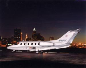 Private jet at Cleveland Airport