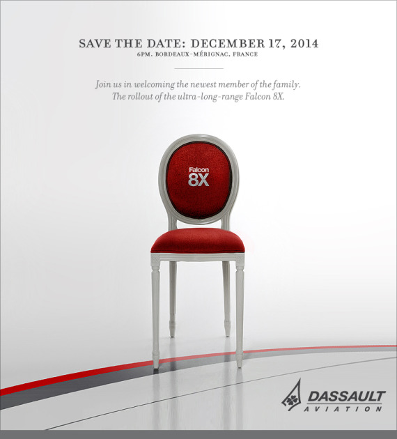 Save the date Falcon 8X Rollout December 17, 2014