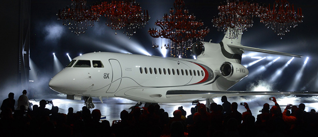 Dassault Falcon 8X Rolled out for first time