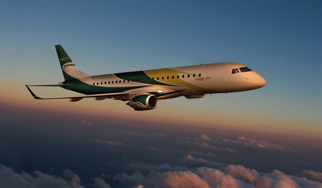 Embraer Lineage 1000 on display at MEBA