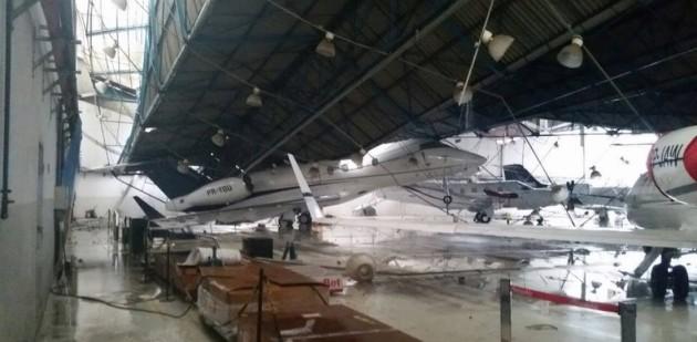 Challenger 300, King Air Damaged in Brazil Hangar Collapse