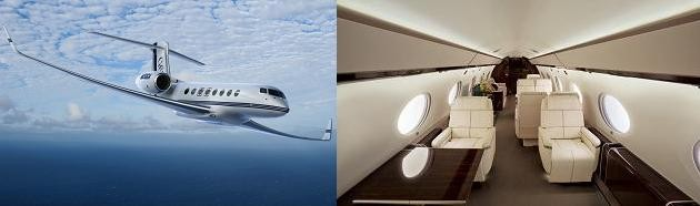 Gulfstream G650 exterior and interior