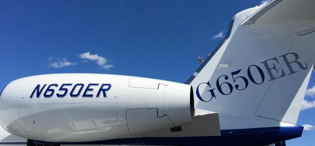 Gulfstream G650ER tail