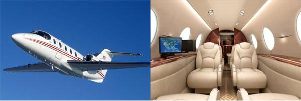 Hawker 400XP exterior and interior