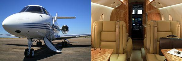 Hawker 850 exterior and interior