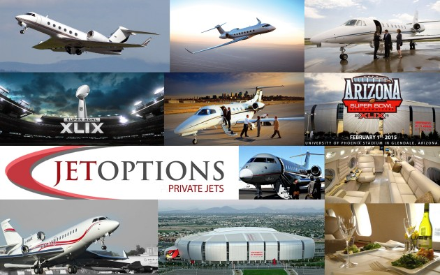 Private jet charter Super Bowl XLIX 2015