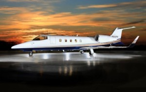 Charter a fast Learjet for AFC NFC Game