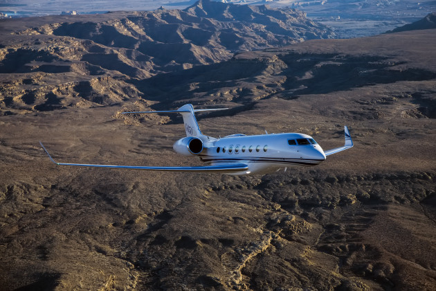 Gulfstream G650ER business jets sets two city pair records