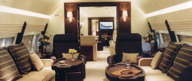 Boeing 767 VIP business jet interior
