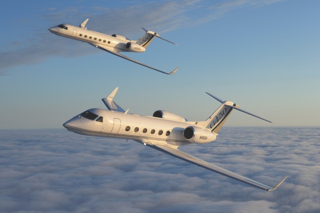 Gulfstream G550 and G450 are top private jets in Asia