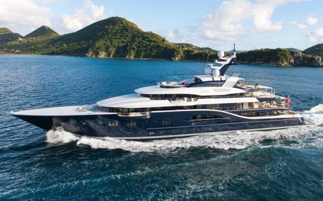 Solandge super yacht can be chartered at 1 million per week