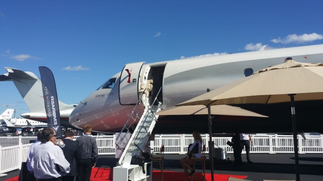 Embraer Lineage at business aviation convention 2014