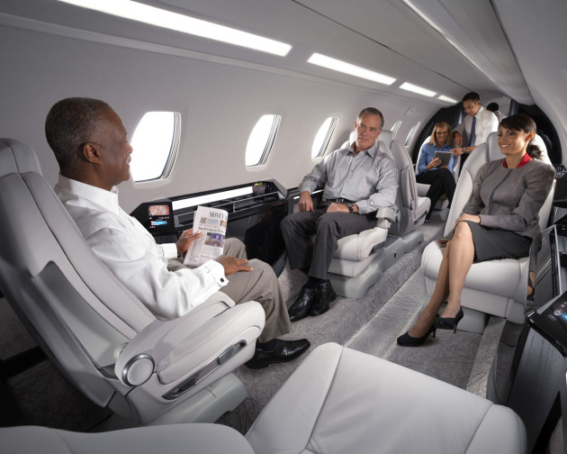 Conduct meetings while traveling using private jet charter