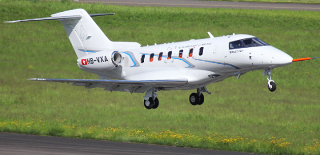 Pilatus PC-24 takes off on maiden flight
