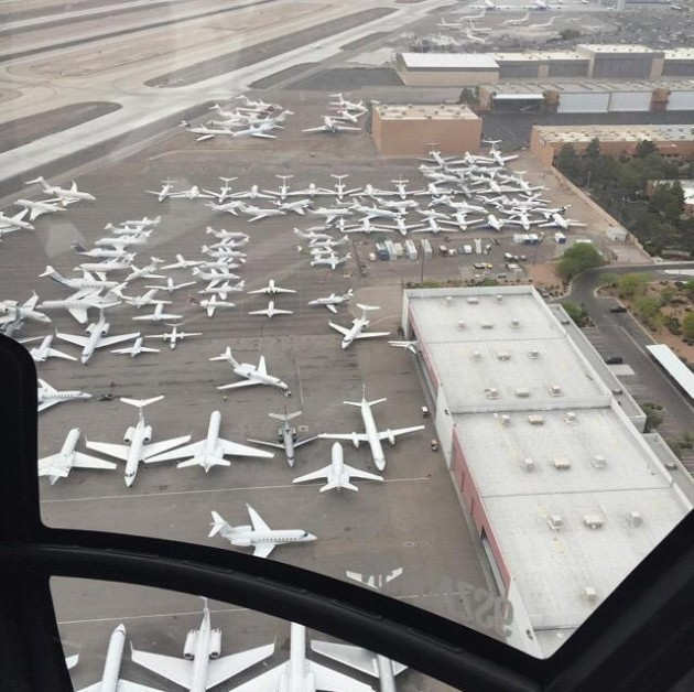 Private jets in Vegas for fight
