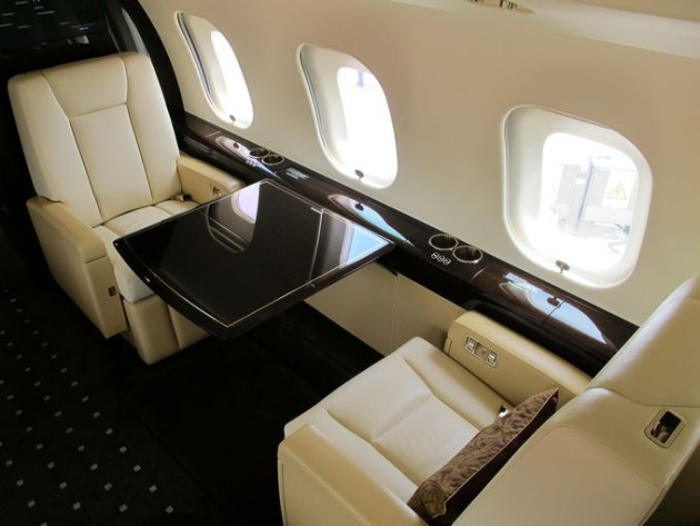 Bombardier Global 6000 Paris Air Show 2015 cabin interior