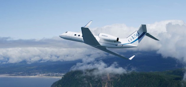 Gulfstream G450 is at Paris Airshow