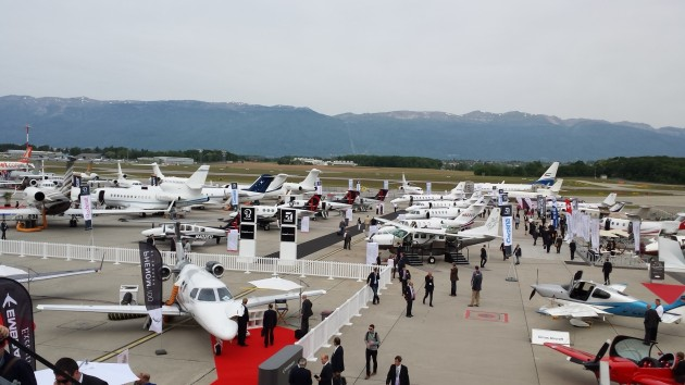 Business jets at EBACE