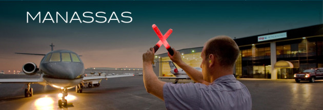 Manassas regional airport jet landing