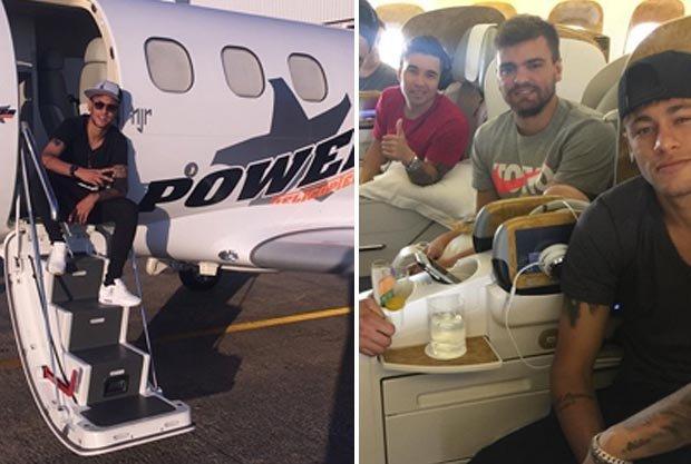 Neymar jet Instagram