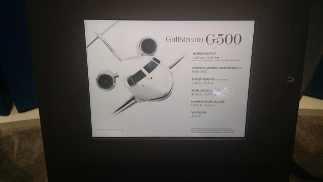 Gulfstream G500 display at NBAA