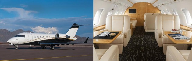 Challenger 605 one way charter rate