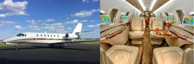 Citation Sovereign one way charter rate available