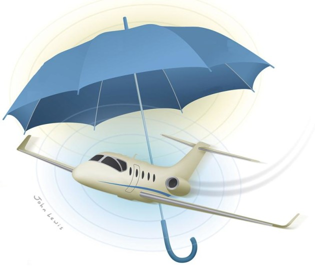 Covered by aviation insurance