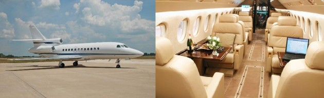 Falcon 900C one way charter rate