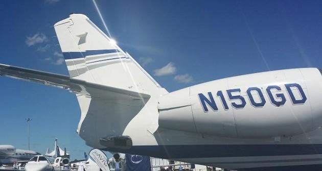 Gulfstream G150 mid light business jet tail