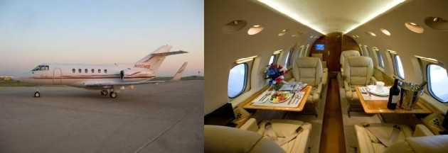 Hawker 800XP one way charter rate