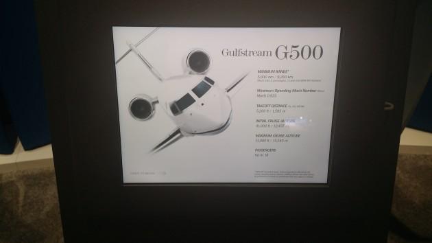 Gulfstream G500 display at NBAA 2014