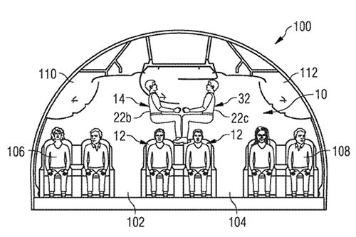 Airbus proposal for people stacking