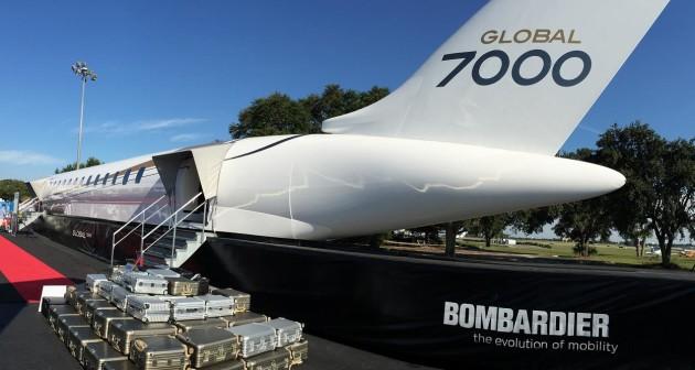 Bombardier Global 7000 at NBAA 2014 JetOptions